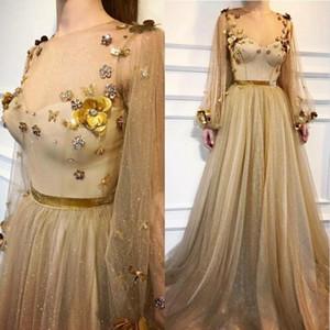 الذهب كم طويل فستان حفلة موسيقية للمرأة ارتداء فساتين يزين حزب الترتر سهره رداء دي سهرة