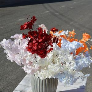 """Falso Cherry (5 gambi / gruppo) Simulazione 23.62"""" Lunghezza simulazione Encrypted Sakura per casa di cerimonia nuziale decorativo fiori artificiali"""
