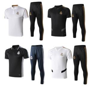 2019 de alta qualidade treinamento camisa de manga Real Madrid Curto polo futebol terno 19/20 MODRIC MARCELO ASENSIO ISCO agasalho camisa de futebol kit
