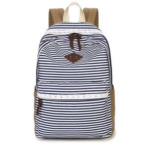 sacos de mulheres elegantes mochila da escola do vintage para adolescentes meninas Ladies Bag Feminino listrado impressão mochilas laptop mochilas