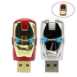 USB iron Man Pen drive Stick 1g 64GB 32GB 16GB 8GB 4GB Pendrive 4 8 16 32 gb USB2. 0 Hero ironman usb U Disk творческий подарок
