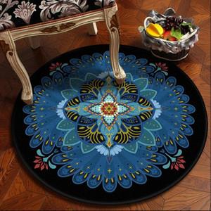 NUEVA Bohemia étnico redonda Mandala piso de la alfombra suave flor geométrica del clásico de sofá Europa Retro Área alfombra grande para la sala