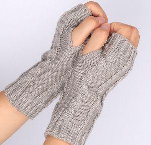 Knitted Arm Fingerless Winter Gloves Women Fashion ladies Soft Warm Mitten ps0418
