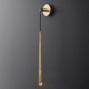 Modern Latão LED Wall Lamp Indoor parede do metal ouro parede de luz Art Sconce cabeceira WA084