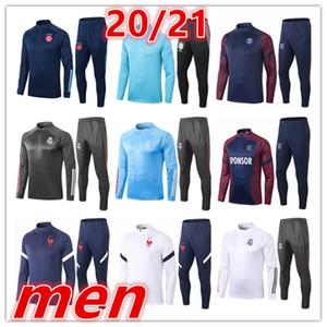 19 20 Männer Fußball kurze Ärmel 3/4 Hose Trainingsanzügen 2019 Mensfußball kurze Ärmel 3/4 Hose Trainings survêtement de Fußballtraining