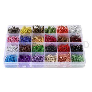 Calabaza 1200pcs Pin de metal / Calabash Pin / Pins / Seguridad del bulbo Pin / Bead aguja Pins / Ropa Tag pernos y accesorios de bricolaje Home, 24 colores