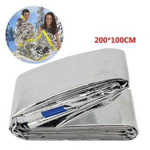 Portátil de emergencia reutilizable plata protector solar resistente al agua manta lámina caliente de supervivencia al aire libre para acampar hijos adultos saco de dormir ZZA1905