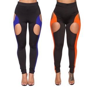 Fashion New Women's Panelled Colours Pants & Capris,Sexy Hollow Out Lady & Girl's Leisure Pants,Two Colours Four Size