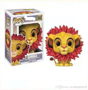 cute Funko POP Simba Vinyl Action anime Figures toy for Collection Model Toys for Christmas Gifts with box