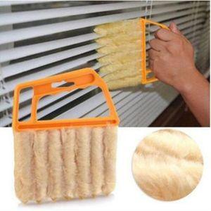 Útil Microfibra Escova De Limpeza Da Janela Ar Condicionado Limpador Duster com Lavável Venetian Lâmina De Pano De Limpeza Da Lâmina