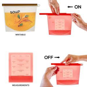 قابلة لإعادة الاستخدام سيليكون الأغذية الطازجة إبقاء حقيبة التخزين الطازجة حفظ حاوية لتجميد التدفئة المحمولة إعادة استخدام فراغ الغذاء السدادة حقيبة نزهة