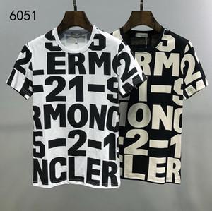 2020Men Strass T-shirt in cotone 100% O manica corta Slim Fit Tee Shirt Homme Uomo Abbigliamento Abbigliamento # 088