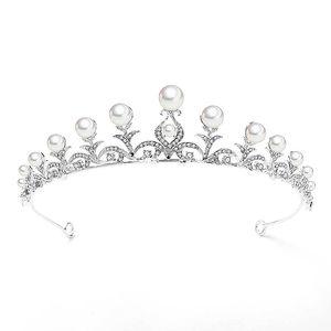 Bridal Wedding Shining Strass Delicate Headpieces Girls Sweet Simulation Pearl Accessori per capelli Women Party Elegant Diademi