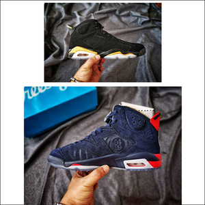 DMP 6 tanımlanması Moment Siyah Metalik Altın erkekler basketbol spor ayakkabısı Rahat Sınırlı 6 Doernbecher Tasarımcı Erkek Trainer Shoes Wit 6S