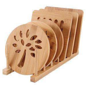 Masa Yalıtım Pad Yuvarlak Ev Çok Fonksiyonlu Kaymaz Placemat Bambu Kalın Anti-haşlanma Kase Mat Placemat