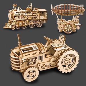 ألعاب خشبية diy 3d لغز الليزر قطع 3d الميكانيكية نموذج تجميع الألغاز للأطفال لغز لعبة خشبية الألغاز لعبة