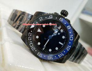 Heißartikel Top Quality Watch 40mm GMT Batman 116710 116710Blnr Schwarz PVD-Gehäuse Keramik Asien 2813 Bewegung Mechanische Automatische Uhr Uhren