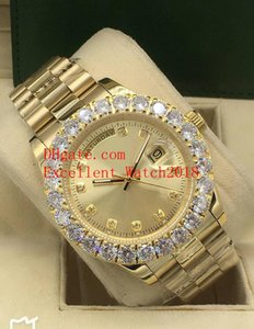 19 The New Hot buy Mens Watches 44 mm 228238 128348 228398 118238 Date 18k Yellow Gold Bezel Diamond Asia 2813 Movement Automatic Mens
