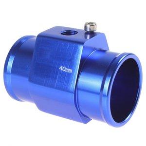Mavi Renk Oto Araç Su Sıcaklık Sensörü Adaptörü Su Sıcaklığı Ölçer Ölçer 40mm Alüminyum ile Kelepçeler CEC _519
