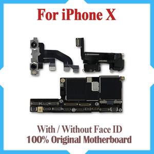 Ücretsiz Kargo Orijinal Anakart iPhone X 64 GB 256 GB Fabrika Unlocked Anakart Ile / Olmadan Yüz KIMLIĞI IOS Güncelleme Desteği mantık kurulu