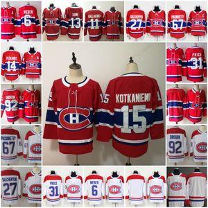 2019 Montreal Canadiens 31 Carey Price Shea Weber Jonathan Drouin Gallagher Alex Galchenyuk Max Pacioretty Andrew Shaw 100 camisetas de hockey