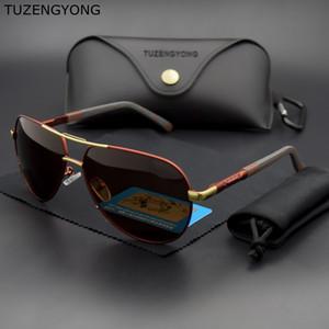 Accessori Occhiali HD da sole polarizzati di guida Occhiali da sole Coating Lens uomo alluminio TUZENGYONG per gli uomini