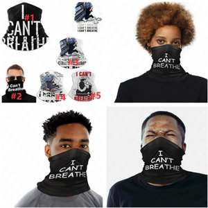 Multifunction Mask Letters I CAN'T BREATHE Riding Mask Magic Scarf Half Face Mask Outdoor Cycling Turban Neck Scarf D6412