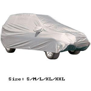 Universal Car Covers pleine neige glace poussière soleil UV ombre Couverture Pliable Silver Light Taille S-XXL Cover Car Auto Outdoor Protector