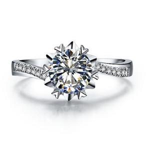 Тест Положительный 0.5ct Lab Grown оптовые ювелирные изделия бриллианты Обручальное кольцо Moissanite Semi кольцо стерлингового серебра