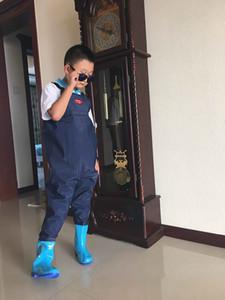 Girl boy children fishing leather fork siamese suspender pants rain boot kids angling waterproof wader waist trousers water shoe