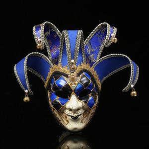 Masques Mode Party Crack personnalité de Bell mascarade masque masque bordure en dentelle Bauta nouveauté Curly Feuille Jester Masques pour Pâques
