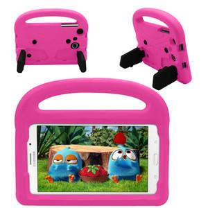 삼성 갤럭시 탭 T280 T285 7 인치 범용 태블릿 갤럭시 T230 어린이 안전 실리콘 커버 + 스타일러스에 대한 핸들과 EVA 케이스