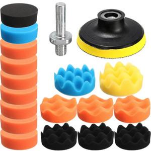 Kit de herramientas para pulir Doersupp 19PCS esponja para pulir a mano para el coche Pulidora 80mm compuesto para pulir