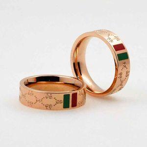 1pcs Luxury Carved Anelli Big G Ring Fashion Charm titanium acciaio da uomo Lovers da donna Band Rings