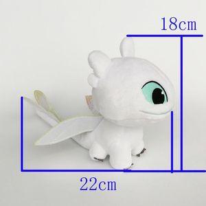Neue Spielzeug-Licht-Fury-Plüsch-Spielzeug Drachenzähmen 3 Soft-Puppe-Plüsch-Spielzeug für Kinder Weihnachten Halloween besten Geschenke 18x22cm Zähmen