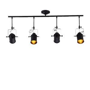 Soffitto Retro Industriale Faretti Minimalista pista Luce Mini Hanging Illuminazione del punto nero E27 luce di soffitto CRESTECH