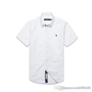 Puro algodão camisa de manga curta para os homens de negócios casuais coreana camisa slim juventude verão moda estilo de Hong Kong desgaste dos homens