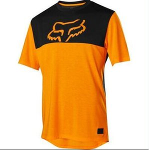 FOX todoterreno de manga corta camiseta de verano de la motocicleta de manga corta de secado rápido que absorbe el sudor transpirable traje de carreras de motos T-Shir
