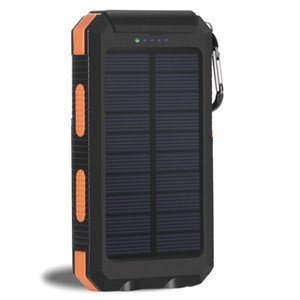 Solar Power Bank 20000mAh USB powerbank bateria externa portátil impermeável carregamento Camping LED Light 2 USB