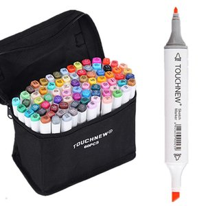 60 Color Set TOUCHNEW 6 Sketch Kinder Malerei Highlighter Unterstrichen Alkoholbasis Marker Pens