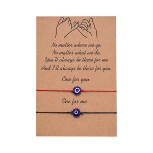 Bijoux Vintage réglable en alliage amant Infinity breloque main corde Bracelet cire cordon d'amitié Bracelet Couple Cadeaux de Noël