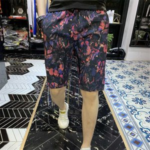 New spring and summer men's fashion butterfly pattern beach shorts casual slim comfortable stretch jump pants