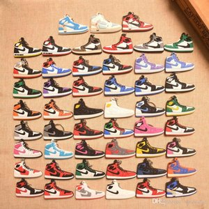 New Arrival Fashion Basketball Keychains PVC Soft Shoes Shape Key Ring Silicone Pendant Key chain Sports Fans Souvenirs