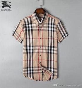 Chemise à manches longues pour hommes d'affaires 2019Men's stripe slim fit sain nouvelle chemise à carreaux sociaux hommes sociaux # L25