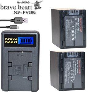 bateria NP FV100 NP-FV100 FV100 Batteries Batterie pour Sony NP-FV30 NP-FV50 NP-FV70 SX83E SX63E caméra FDR-AX100E AX100E HDR