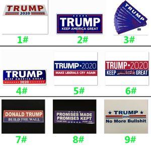 Donald Trump 2020 pegatinas de coches 7,6 * 22,9 cm de parachoque Mantenga Hacer América grande para el coche Decal Paster Styling Vehículo 9 estilos HH9-2156