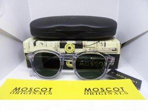 MOSCOT polarizzato gli occhiali da sole trasparenti di qualità marchio retrò-vintage Pure-Plank pieno-orlo occhiali da sole accustomized imballaggio originale L taglia M S