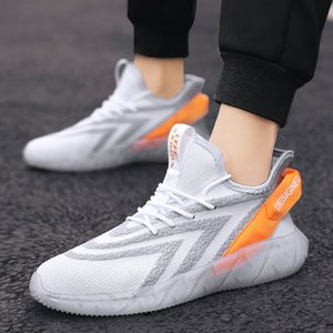 Transparent Bottom Coconut Shoes 2020 New Sports And Leisure Running Mesh Increased Men'S Shoes