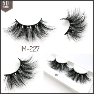 5D 25mm Vizon Kirpikleri Göz makyajı 25mm Göz Kirpik Uzatma Güzellik Paketleme Araçlar Yanlış Eyelashes Işık karıştırarak 22 24mm 18 stilleri Karışık Stiller