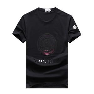 Magliette del progettista degli uomini 2019 Magliette variopinte del cotone della maglietta variopinta di modo Magliette variopinte di estate delle magliette del cotone di estate di alta qualità delle magliette degli uomini